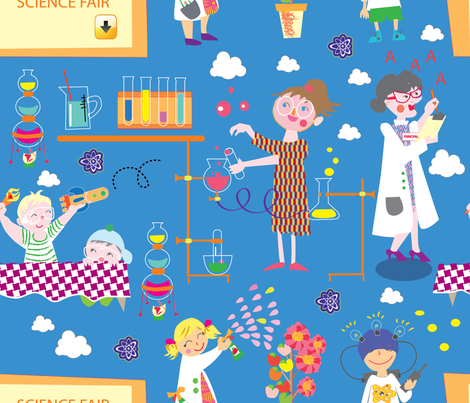Future_Scientist fabric by maribel on Spoonflower - custom fabric