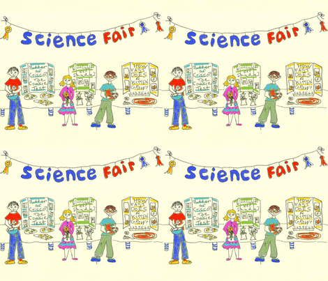 Science Fair Sketchbook fabric by krussimages on Spoonflower - custom fabric
