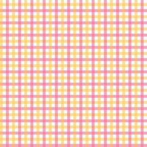 Picnic Gingham pink and yellow