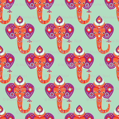 Exotic indian elephant mint purple