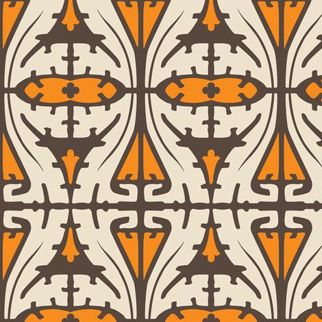 Art Nouveau Serpentine 1c fabric by muhlenkott on Spoonflower - custom fabric