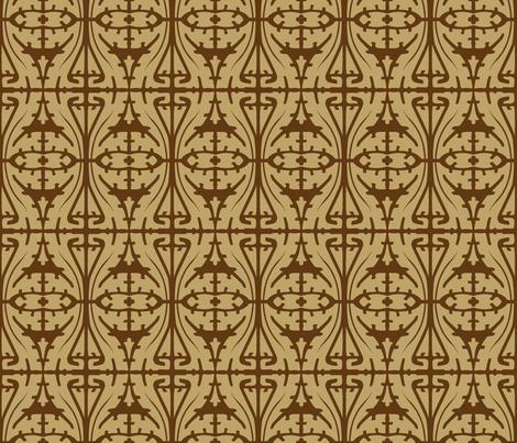 Art Nouveau Serpentine 1a fabric by muhlenkott on Spoonflower - custom fabric