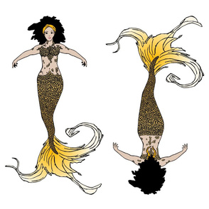 Golden Mermaid Doll