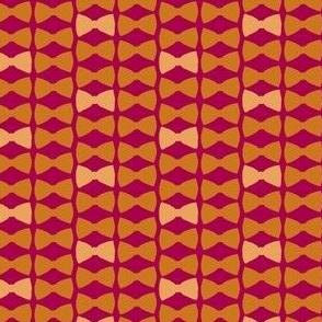 6 bowties orange