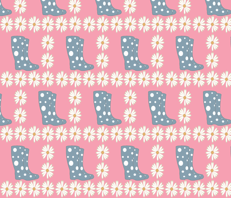 boots_and_flowers fabric by gigiflor on Spoonflower - custom fabric