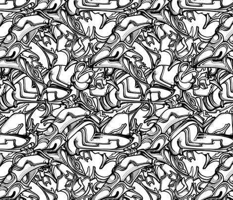 nose fabric by mcclept on Spoonflower - custom fabric