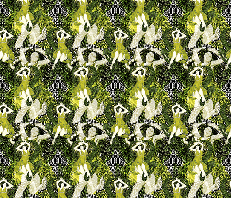 Harcisse Nymphe Remix fabric by whimzwhirled on Spoonflower - custom fabric