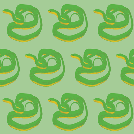 Sleepy Snakes fabric by amy_hadden on Spoonflower - custom fabric