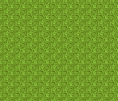 Spring Bed of Roses Swirl Small-Lime fabric by tanglewebb on Spoonflower - custom fabric