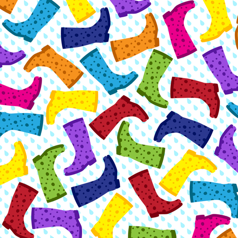 Grab Your Wellies! fabric by robyriker on Spoonflower - custom fabric