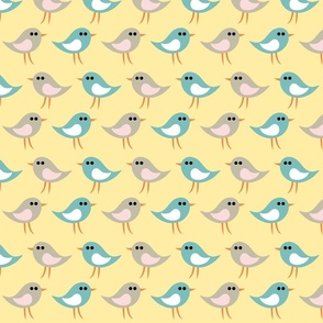 Bird pattern_yellow
