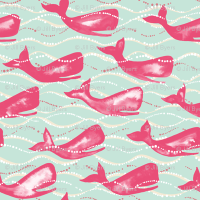 Whales in Waves