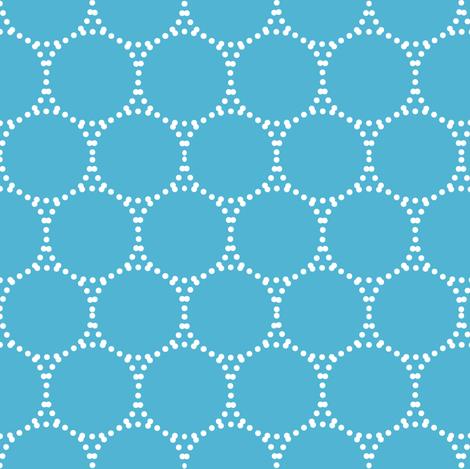 #50b4d2 dotty dots fabric by keweenawchris on Spoonflower - custom fabric