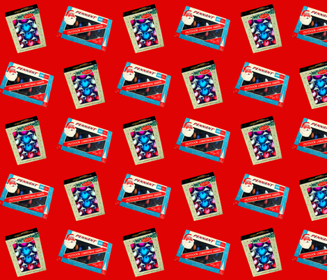 Christmas Ornaments & Lights red fabric by formfunctionstyle on Spoonflower - custom fabric