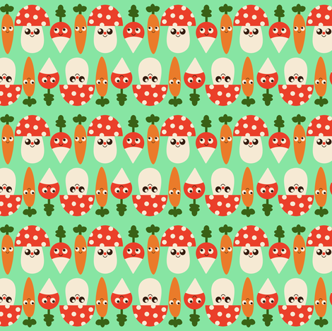 Veggies fabric by heidikenney on Spoonflower - custom fabric