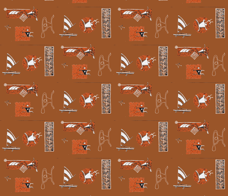 001-ch-ch-ch-ch-ch fabric by sophista-tiki_by_dawn_frasier on Spoonflower - custom fabric