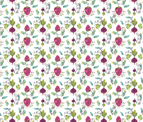 fruits&veggies fabric by elylu on Spoonflower - custom fabric