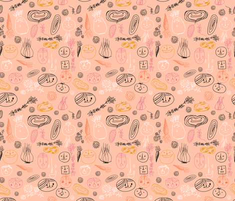 child like doddles- fabric by elylu on Spoonflower - custom fabric