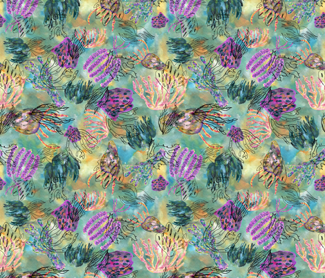 Under the sea fabric by elylu on Spoonflower - custom fabric