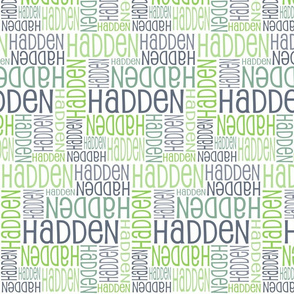 Personalised Name Design - Greys and Greens