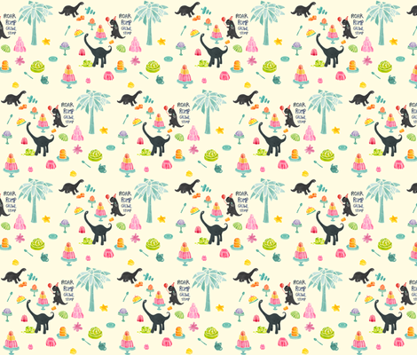 Jellosaurus Rex fabric by ceneri on Spoonflower - custom fabric