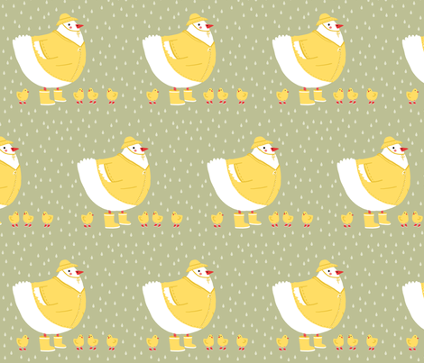 Poule mouillée ! fabric by evachatelain on Spoonflower - custom fabric