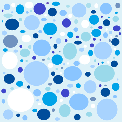 Bubbly Blues fabric by lorileidig on Spoonflower - custom fabric