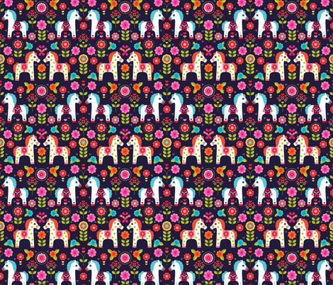 Matryoshka pony folklore horse print fabric by littlesmilemakers on Spoonflower - custom fabric