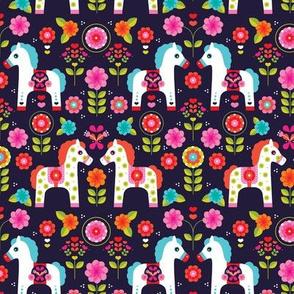 Matryoshka pony folklore horse print