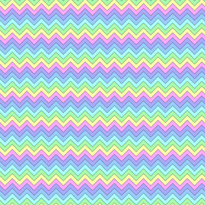Large pastel chevron