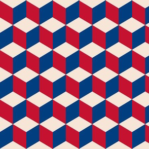 cubic in vintage flag colors