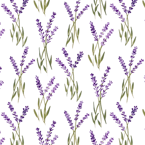 lavender bunches fabric by jillbyers on Spoonflower - custom fabric