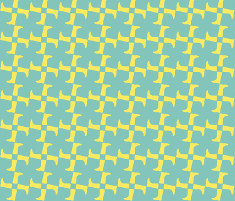 heralds of spring - yellow on blue fabric by weavingmajor on Spoonflower - custom fabric