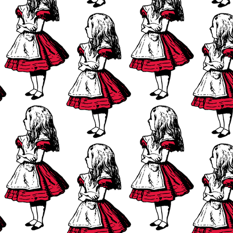 Alice with Red fabric by pond_ripple on Spoonflower - custom fabric