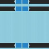 Black and Blue Ribbon Border