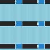 Black and Blue Ribbon Border Wallpaper