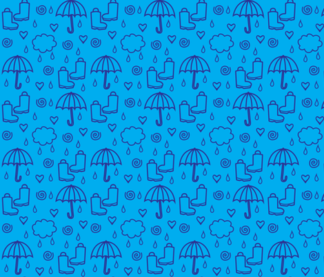 Wellies and Galloshes fabric by abstrakt_kat on Spoonflower - custom fabric