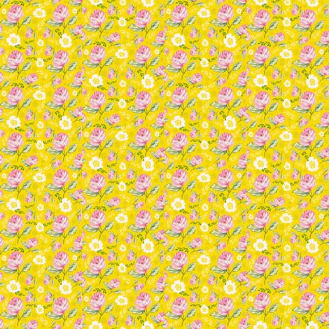 Jessica Rose Yellow fabric by blackwooddesign on Spoonflower - custom fabric