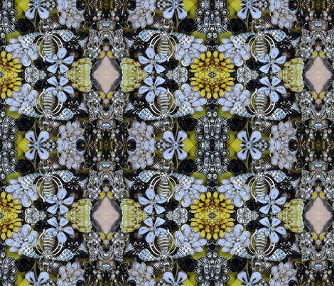 Queen Bee fabric by seedtosalad on Spoonflower - custom fabric
