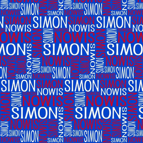 Personalised Name Design - Red Blue White