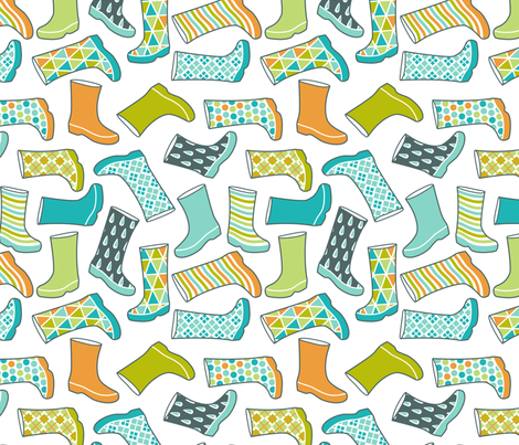 fancy wellies fabric by cjldesigns on Spoonflower - custom fabric