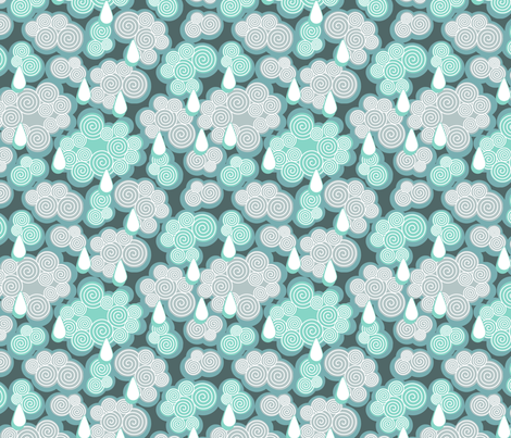 rain clouds fabric by cjldesigns on Spoonflower - custom fabric