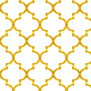 Gold Quatrefoil