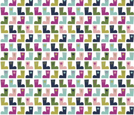 merry wellies fabric by annebomio on Spoonflower - custom fabric