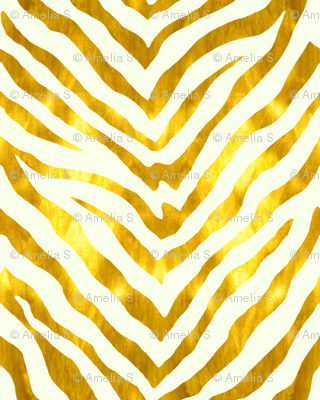 Gold and White Zebra