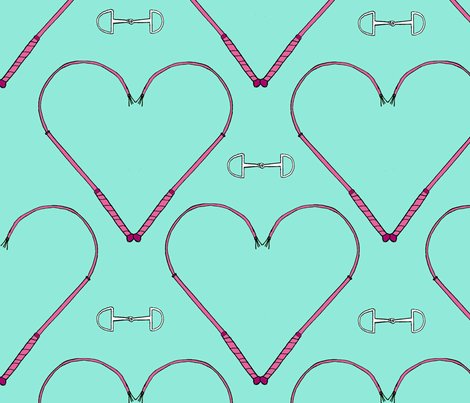 Whipped Hearts (and bits) fabric by ragan on Spoonflower - custom fabric