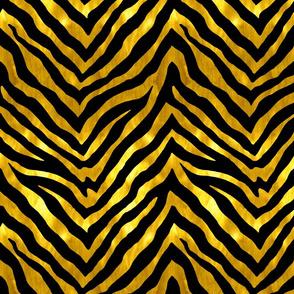 Black and Gold Zebra