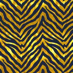 Navy and Gold Zebra