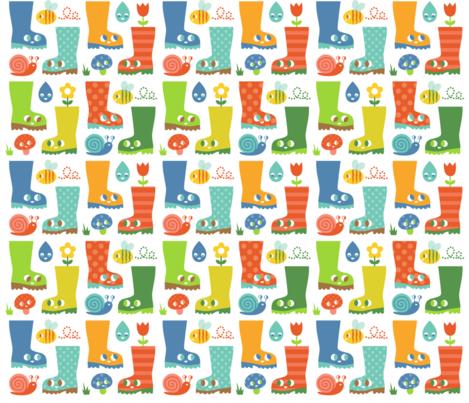 Happy_wellies fabric by josie_tortoise on Spoonflower - custom fabric