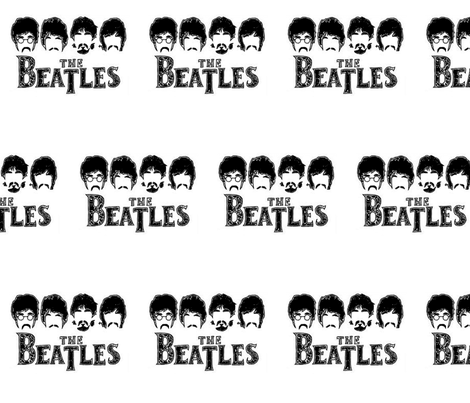 The Beatles fabric by dragonchocolates on Spoonflower - custom fabric